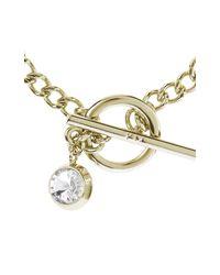 Karen Millen - Metallic Quantum Crystal T-bar Bracelet - Gold Colour - Lyst