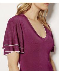Karen Millen - Purple Knitted Midi Dress - Magenta - Lyst