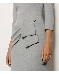 Karen Millen Gray Folded Pencil Dress - Grey
