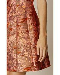 Karen Millen Multicolor Rose Gold Jacquard Dress - Rose Gold Colour