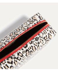 Karen Millen Multicolor Leopard Travel Washbag