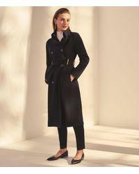 Karen Millen Black Double-breasted Tailored Coat