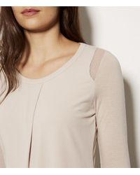 Karen Millen Natural Layered Sleeveless Top - Stone