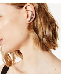 Karen Millen - Pink Tri-colour Long Earrings - Lyst