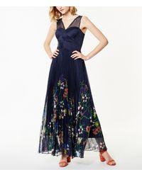 Karen Millen Blue Floral Hem Maxi Dress