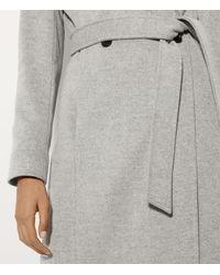 Karen Millen Gray Long Fitted Wool Coat - Grey