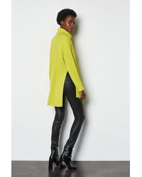 Karen Millen Green Chunky Roll Neck Jumper With Side Splits