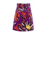 Karen Millen Multicolor Floral Cotton Full Skirt - Multicolour