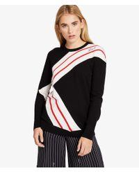 Karl Lagerfeld Black K/stripes Knit Jumper