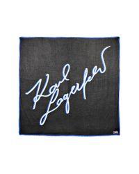 Karl Lagerfeld Black Signature Scarf