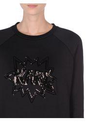 Karl Lagerfeld Black Karl Pop Sweatshirt Dress