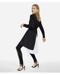 Karl Lagerfeld Black Pleated Panel Shirt Dress