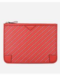 Karl Lagerfeld Red K/stripe Logo Pouch