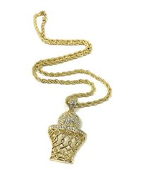 Haste Goods - Metallic Iced Out Basketball Necklace - Lyst