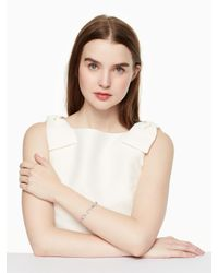 Kate Spade - Metallic Crystal Rose Bracelet - Lyst