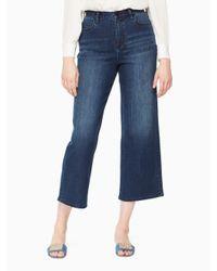 Kate Spade - Blue Cropped Wide Leg Denim - Lyst