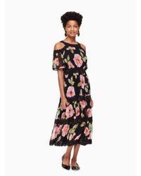 Kate Spade Black Vintage Bloom Shane Dress