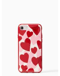 Kate Spade - Multicolor Jeweled Heart Iphone 7 Case - Lyst