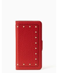 Kate Spade - Multicolor Iphone Cases Embellished Wrap Folio- 7 Plus - Lyst