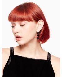 Kate Spade - Black Be Bold Linear Earrings - Lyst