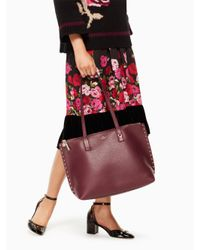 Kate Spade - Multicolor On Purpose Studded Leather Tote - Lyst