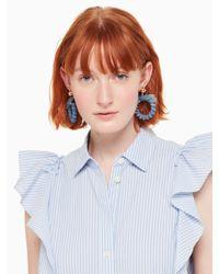 Kate Spade - Blue Tie It On Hoops - Lyst