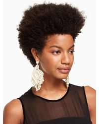 Kate Spade - Multicolor Lace It Up Lace Statement Earrings - Lyst