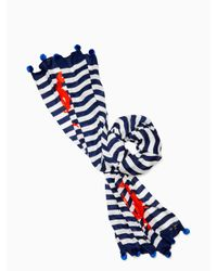 Kate Spade - Blue Hanging Crab Oblong Scarf - Lyst