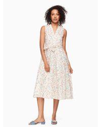 Kate Spade Multicolor Mini Bloom Burnout Dress