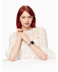 Kate Spade Black Gingham Silicone Apple Watch® Strap