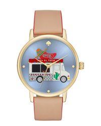 Kate Spade - Metallic Taco Truck Metro Grand Watch - Lyst