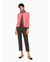 Kate Spade - Pink Scallop Cardigan - Lyst