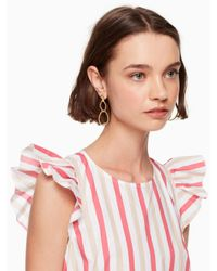 Kate Spade - Metallic Sailor's Knot Statement Earrings - Lyst
