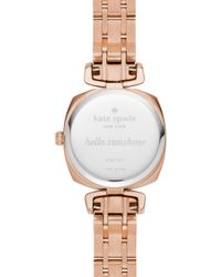 Kate Spade | Metallic Rose Gold Mini Barrow Watch | Lyst