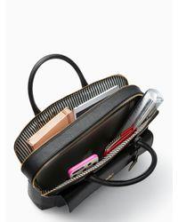 "Kate Spade - Black 13"" Double Zip Laptop Bag - Lyst"