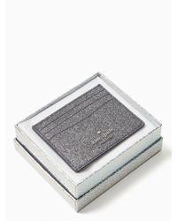 Kate Spade Multicolor Lola Glitter Boxed Small Slim Card Holder