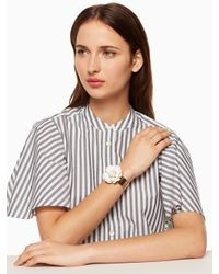 Kate Spade - White Bright Blossom Flower Cuff - Lyst