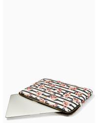 Kate Spade - Multicolor Rose Stripe Universal Laptop Sleeve - Lyst