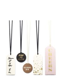 kate spade new york Multicolor Assorted Wine Tag Set