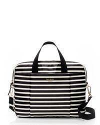Kate Spade - Black Classic Nylon Stripe Laptop Commuter Bag - Lyst