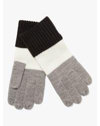 Kate Spade Gray Colorblock Gloves