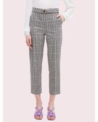 Kate Spade Gray Menswear Crop Pants