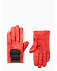 kate spade new york | Red Elastic Bow Gloves | Lyst