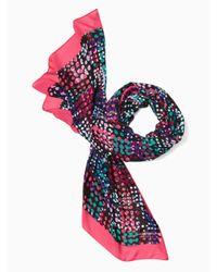 kate spade new york | Pink Multi Dot Oblong Scarf | Lyst
