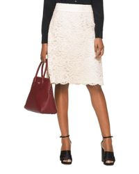 kate spade new york | Natural Lace A-line Skirt | Lyst