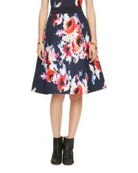 kate spade new york | Multicolor Hazy Floral Midi Skirt | Lyst