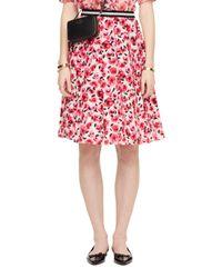 kate spade new york | Pink Mini Rose Pleated Skirt | Lyst