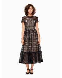 kate spade new york | Natural Mixed Lace Dress | Lyst