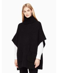 kate spade new york | Black Alpaca Cape Sweater | Lyst