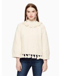 kate spade new york | Multicolor Tassel Cotton Slub Sweater | Lyst